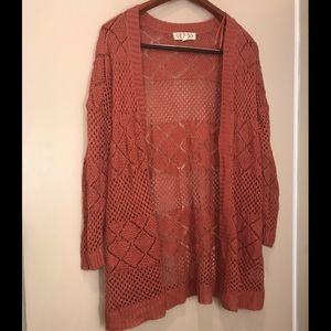 Rust Colored Cardigan from Pink Rose size XL